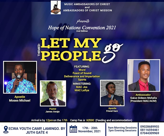 Hope of Nations Convention 2021 (Second Edition) - Registration Form