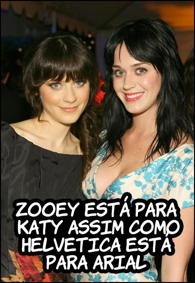 zooey katy Aparente semelhança
