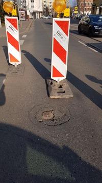 Straßeneinbruch Marienthaler Straße 2 - Foto WWZ