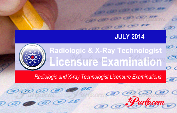 July 2014 Radiologic & X-Ray Technologist Exam Full Results List