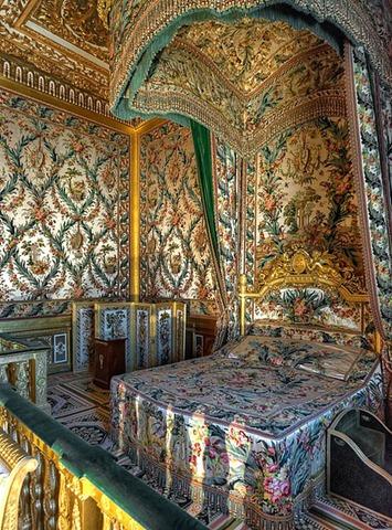 Dormitorio de Marie Antonieta en palacio de Fontainebleau, Francia (por Ganymede2009).