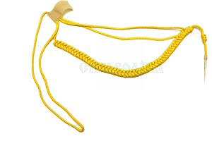 Аксельбант офіцерський жовтий з 1 наконечником
