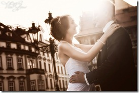 Фотографии со свадьбы - замок Емниште и старая Прага