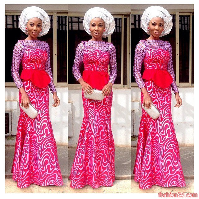 46a91c1ed the latest french lace aso ebi styles - Fashion 2D
