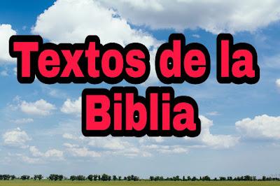 Textos de la Biblia