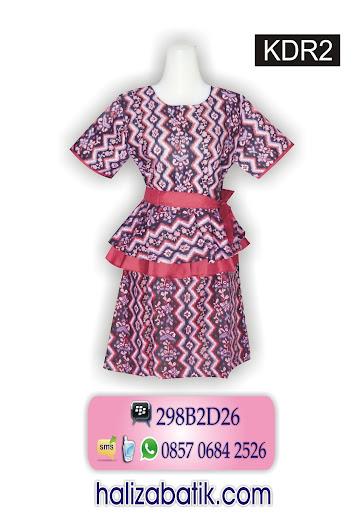 batik dress modern, dress batik wanita, model baju batik terbaru wanita
