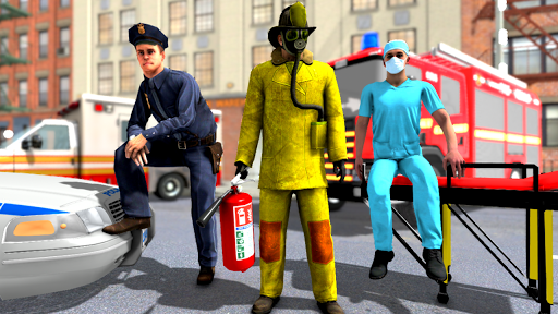 FireFighter Emergency Rescue Game-Ambulance Rescue 3.1 screenshots 1