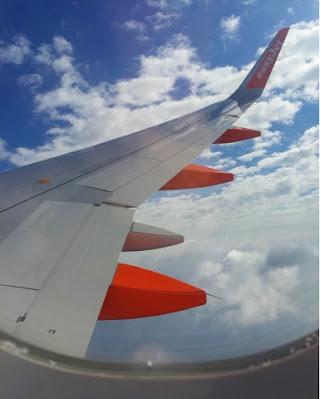 Easyjet plane in the sky