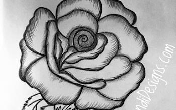 Rose Tattoo Outline Design