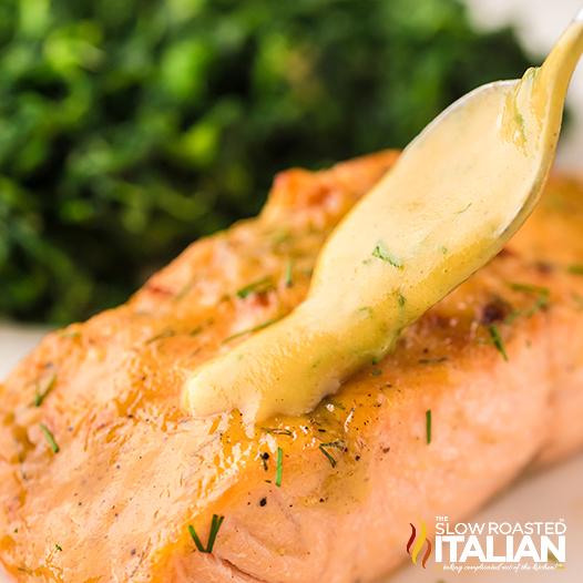Air Fryer Salmon w/ Honey Mustard Glaze