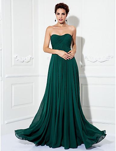 Vestido De Fiesta Verde Oscuro Corte Princesa Vestidos De