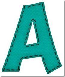 a letras verdes