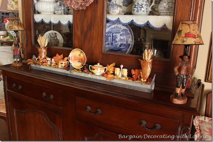 Fall on the family room hutch