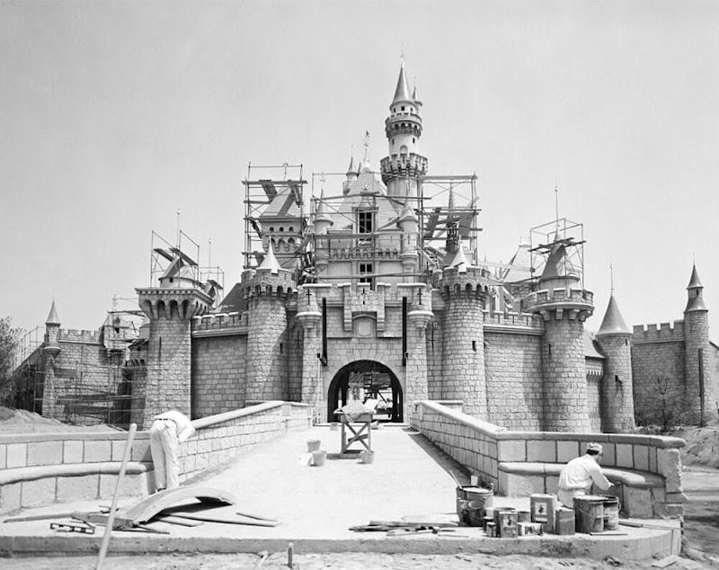 Under Construction Pictures of Disneyland of Paris in 1953