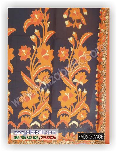 Model Batik Terbaru, Butik Online, Desain Batik, HM06 ORANGE