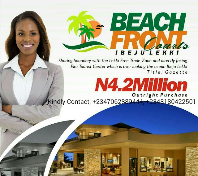 BEACHFRONT COURTS,(SHARE BOUNDARY WITH LEKKI FREE TRADE ZONE), IBEJU LEKKI, LAGOS