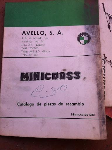 Puch MiniCross Super - Portada Del Catálogo De Piezas De Recambio IMG_1383