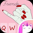 粉红色最好的朋友2键盘主题的女孩 icon