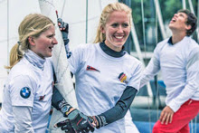 J/70 German women sailing teams in Hamburg, Germany