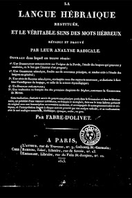 Cover of Fabre d'Olivet's Book Langue Hebraique (1815,in French)