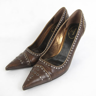 Prada Studded Pumps