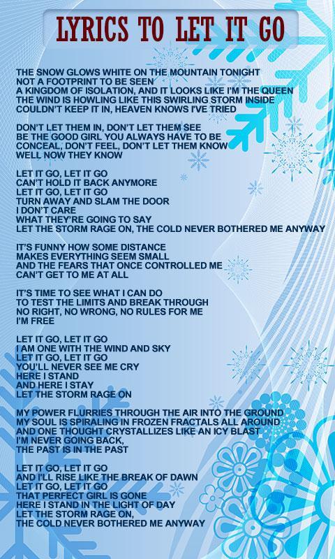 Princess Frozen World Lyrics