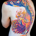 Phoenix Full Back - Back Tattoos Designs