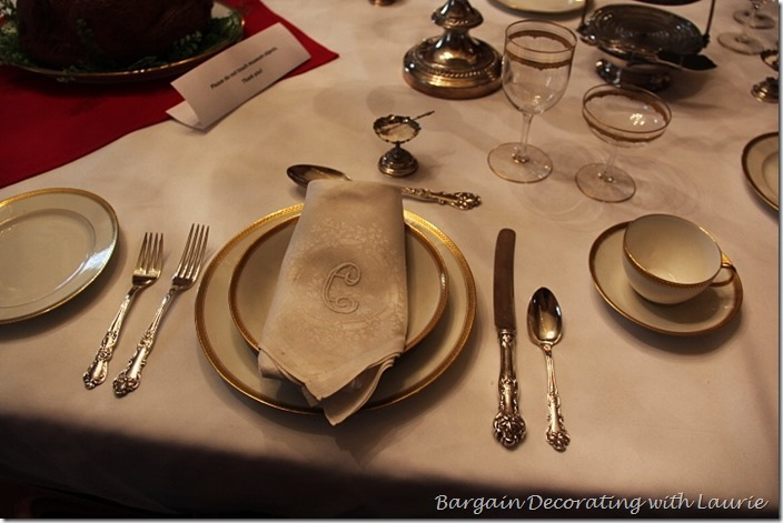ormal Tablescape in a Mansion-Bargain Decorating with Laurie