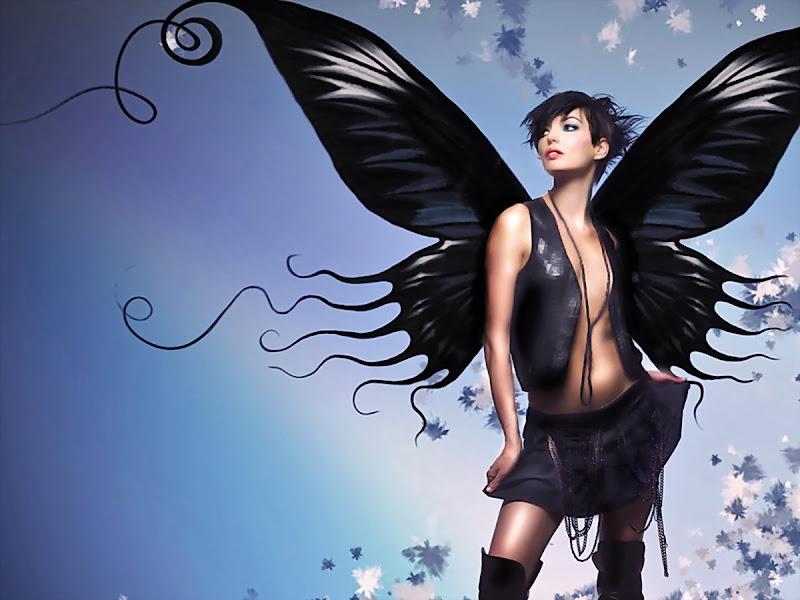 Black Butterfly Girl, Fallen Angels