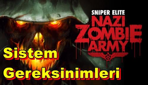 Sniper Elite: Nazi Zombie Army PC Sistem Gereksinimleri