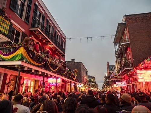 bourbon Street New Orleans Mardi Gras