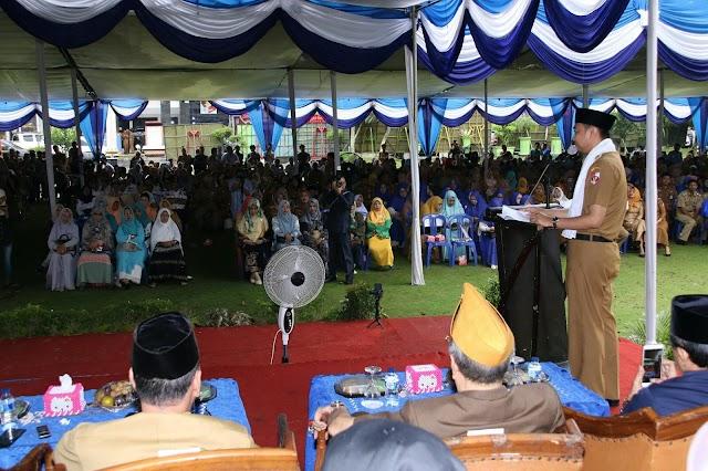Bupati Agung usai cuti gelar Hal Bihalal di lingkungan pemkab Lampura