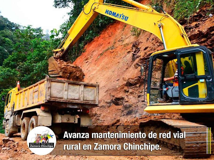 AVANZA MANTENIMIENTO DE RED VIAL RURAL EN ZAMORA CHINCHIPE