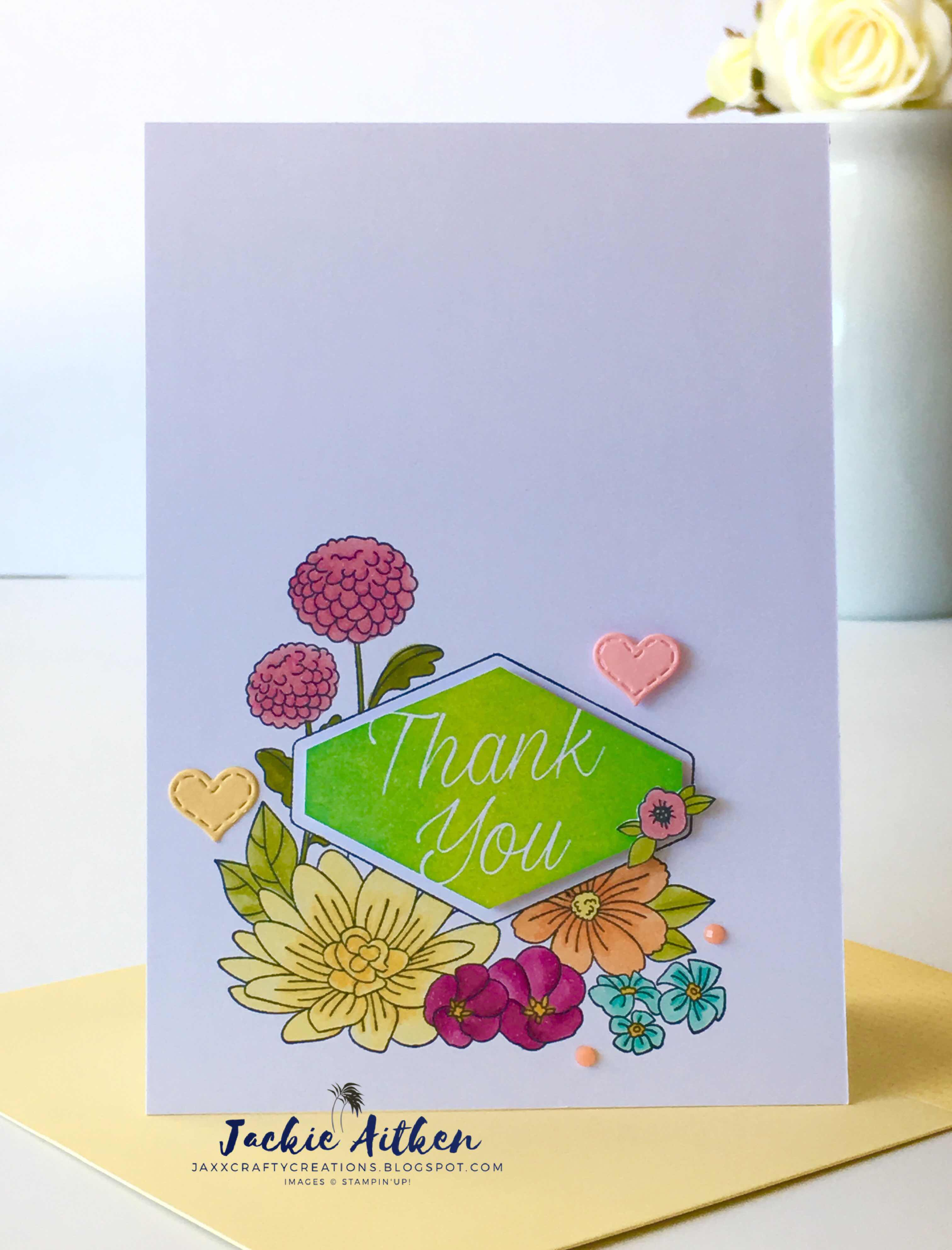 stampin up accented blooms