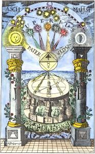 Frontispiece To An 18th Century German Book Entitled The Compass Of The Wise, Alchemical And Hermetic Emblems 1