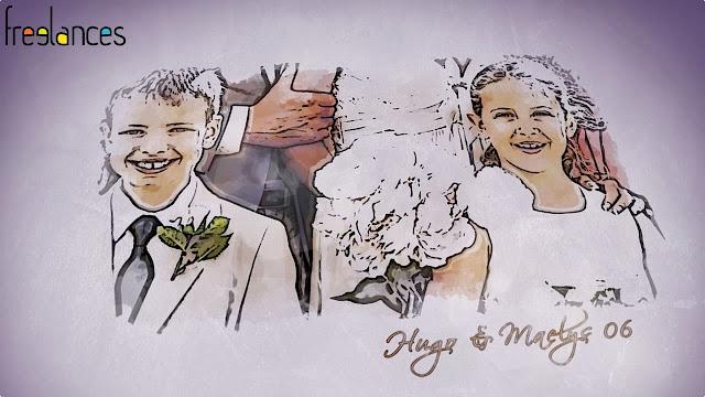 clip vidéo mariage thème dessine moi texte 06 photo 06