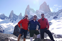 Ted, Dave, and Bern at the Fitz Roy Range, Southern Patagonia
