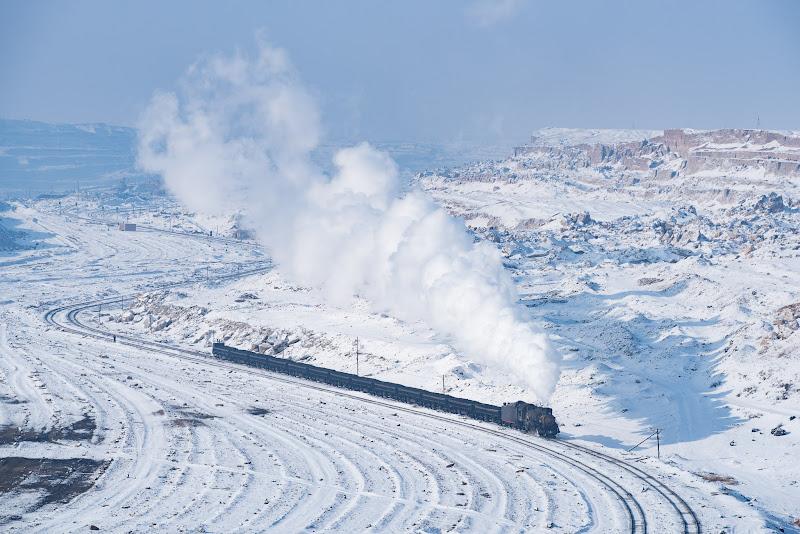 161231 雪晴れの三道嶺露天鉱