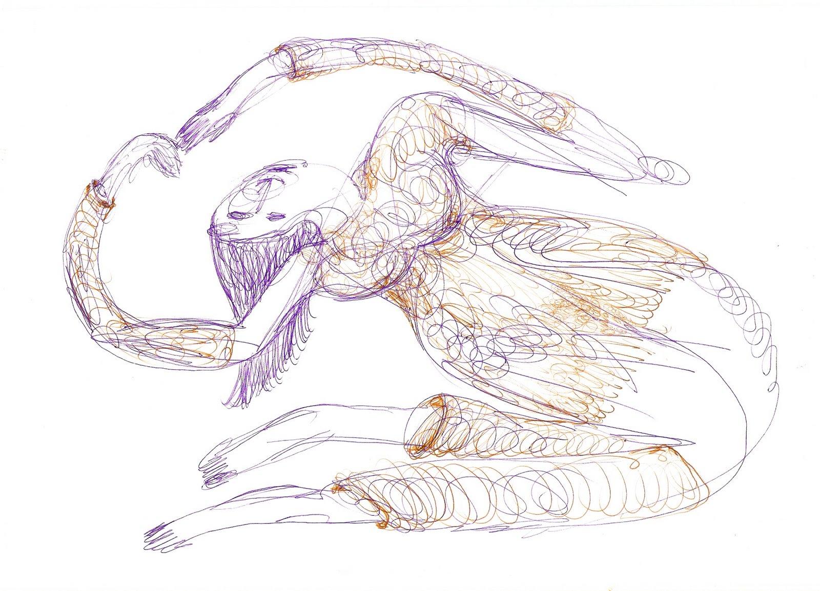 dancing woman (drawing by frank waaldijk)
