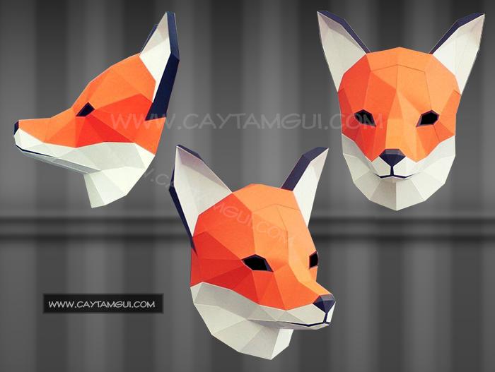 Mặt nạ đầu thú 3D - Hình cáo (Fox mask)
