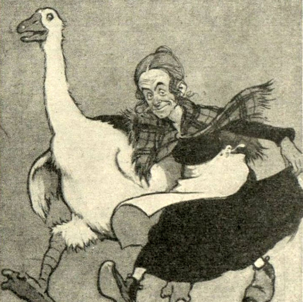 Dan Leno, the Great Dame of Lambeth, in Mother Goose.