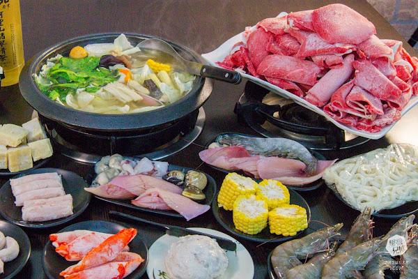 嘉義老牌石頭火鍋 明誠店 30盎司火山系肉爆盤超平價 環境乾淨湯頭好