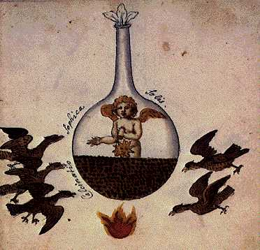 The Sophic Calcination Of The Sun From Cabala Mineralis Manuscript, Hermetic Emblems From Manuscripts 1