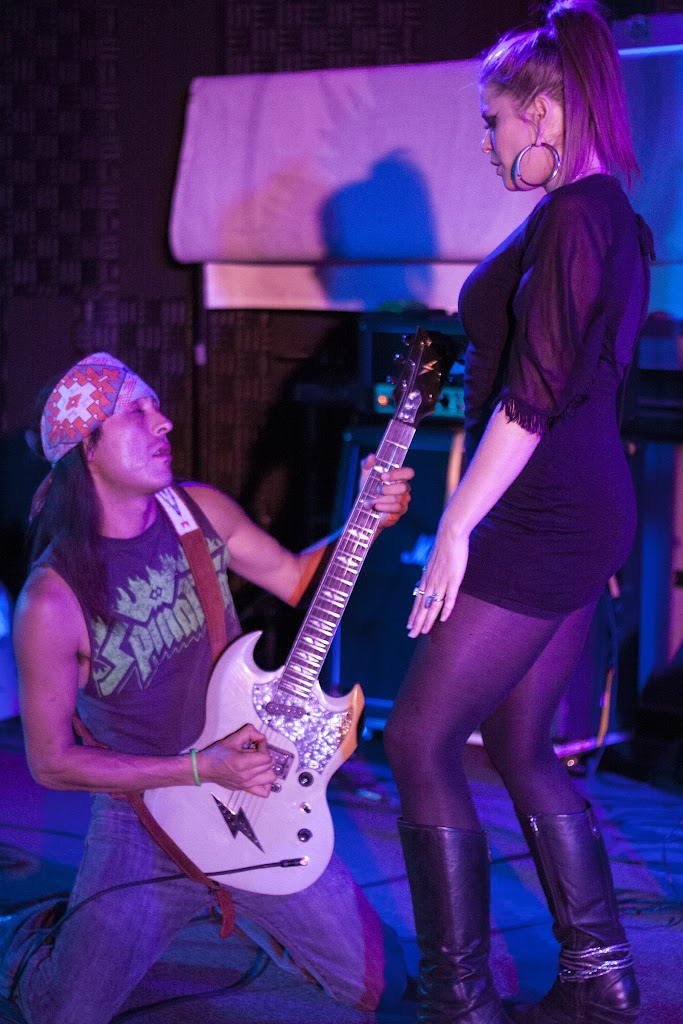 Tay Hamilton (l) and Eryn Swissdorf of Hot Apostles.  Monk's in Missoula, Mont., September 13th, 2012.