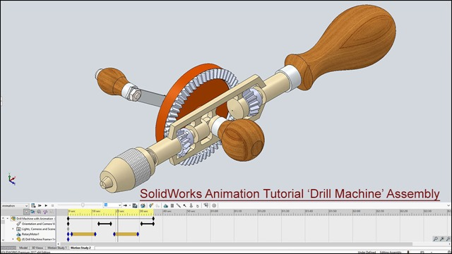 SolidWorks Animation Tutorial 'Drill Machine' Assembly_1