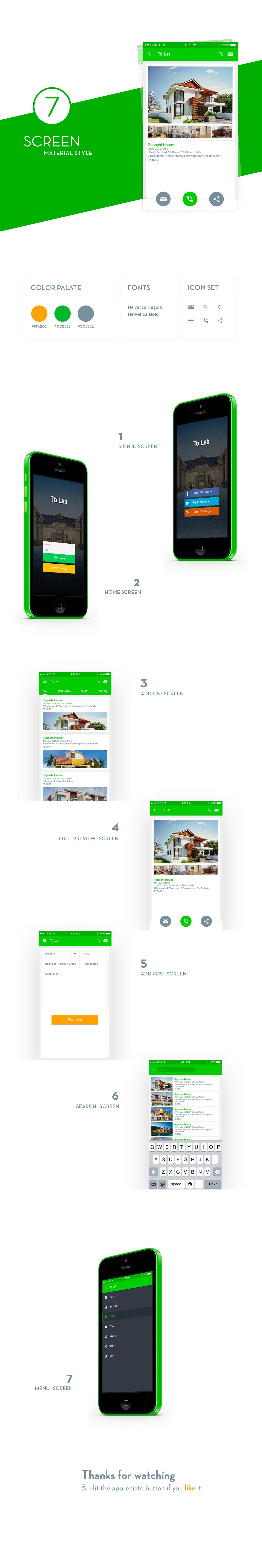 Free PSD App Template