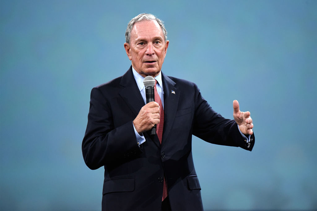 Michael Bloomberg speaks on stage during The Robin Hood Foundation's 2018 benefit at Jacob Javitz Center on 14 May 2018 in New York City. Photo: Kevin Mazur / Robin Hood / Getty Images