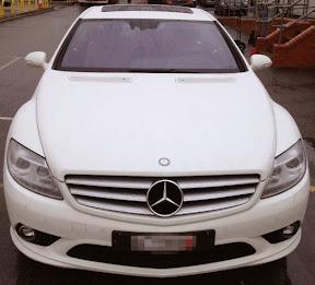Seized Mercedes
