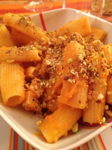 Ricetta pasta zucca gialla e pesce