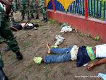 Des assaillants abattus le 30/12/2013 à Kinshasa, lors de l'attaque de la station de télévision nationale(RTNC) par des hommes non identifiés. Radio Okapi/Ph. John Bompengo